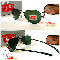 Женские солнцезащитные очки  Ray Ban реплика линза стекло черные