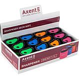 Точилка с контейнером Axent Neon soft 1158-A, асорти цветов, фото 2