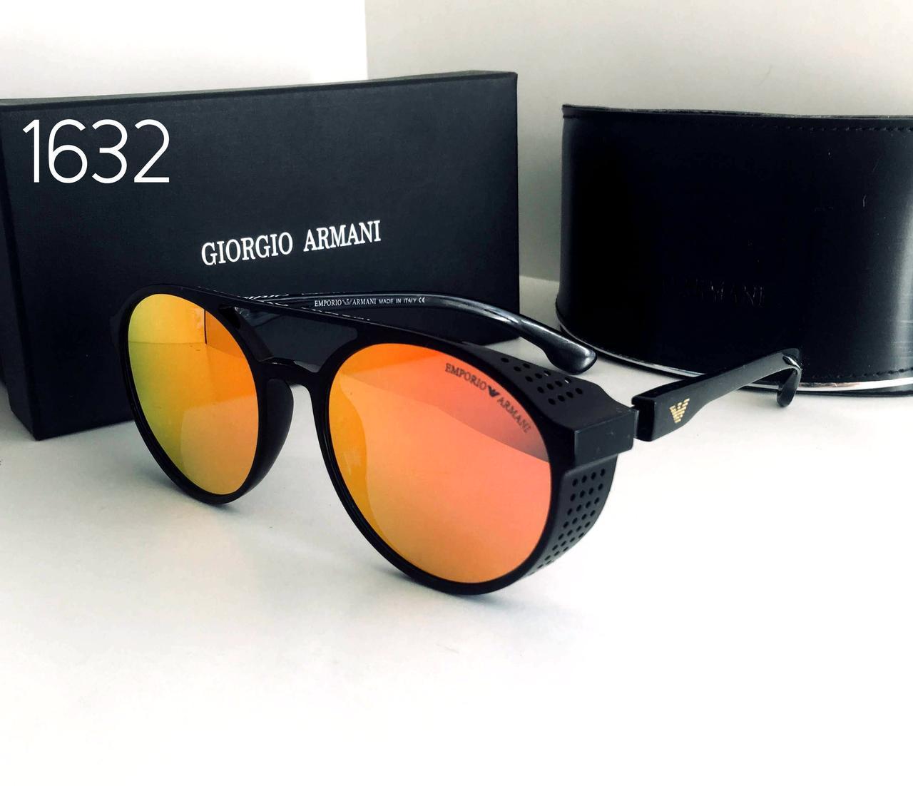 Стильные мужские очки ARMANI  красно- оранжевые зеркалки