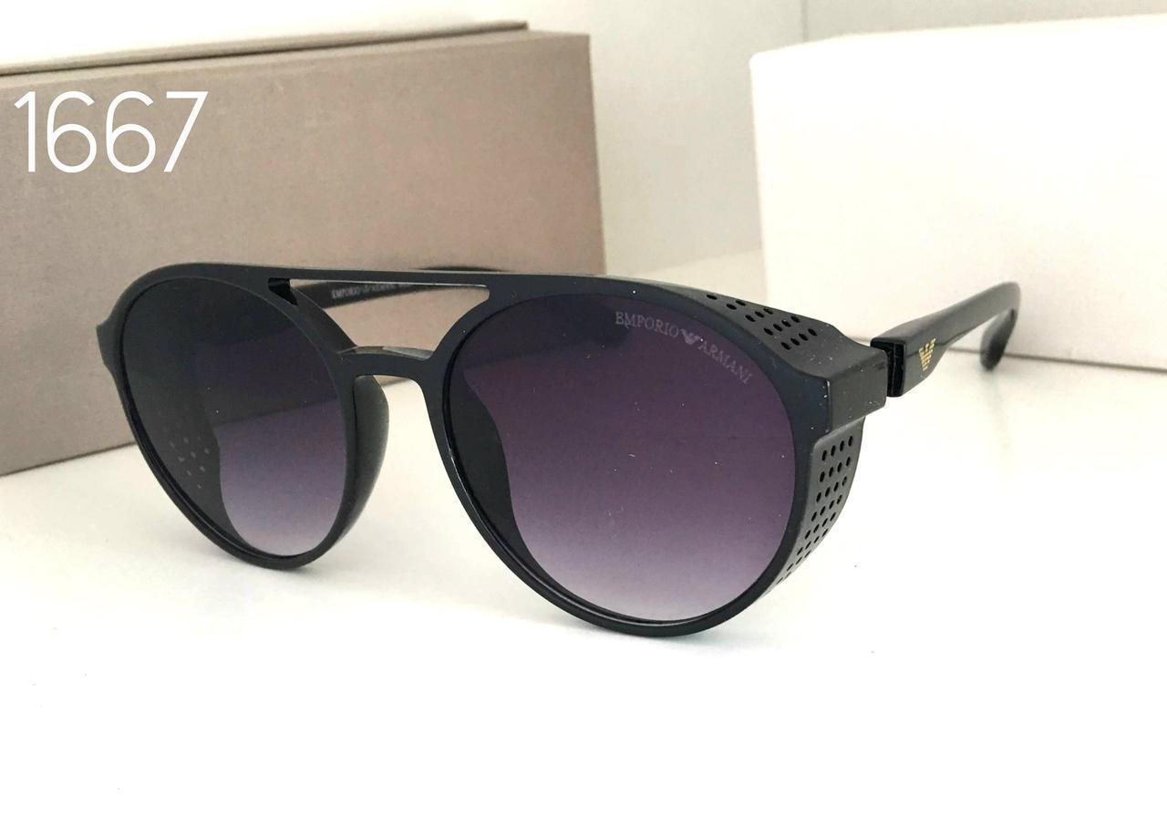 Классные черные  мужские солнцезащитные очки ARMANI