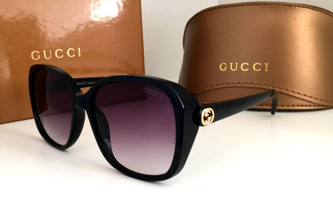Новинка 2019 года! Черные женские солнцезащитные очки Guссi