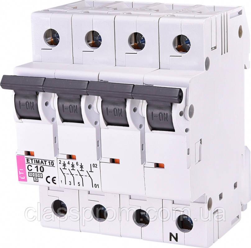 Авт. выключатель ETIMAT 10  3p+N C 10А (10 kA), ETI, 2136714