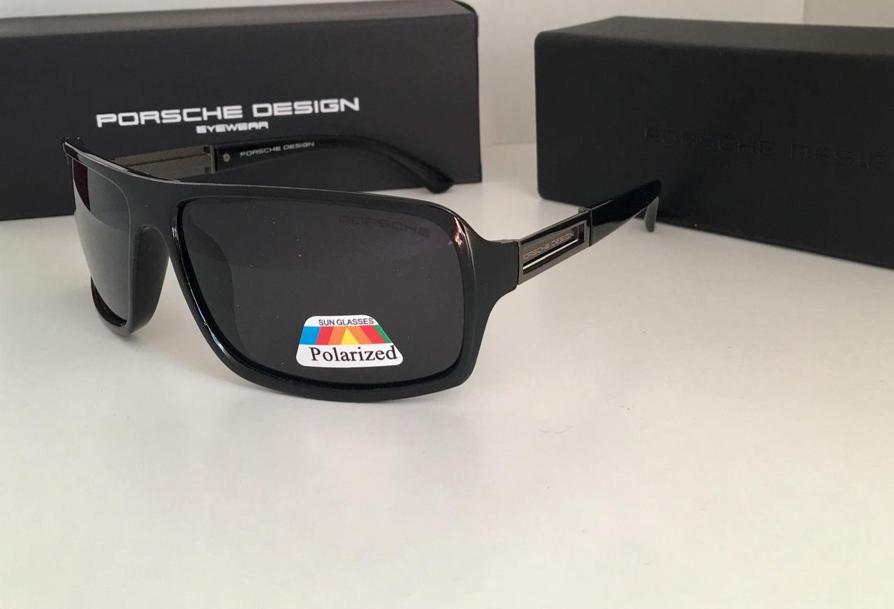 Очки мужские  Porsche Design  черная линза поляризационные