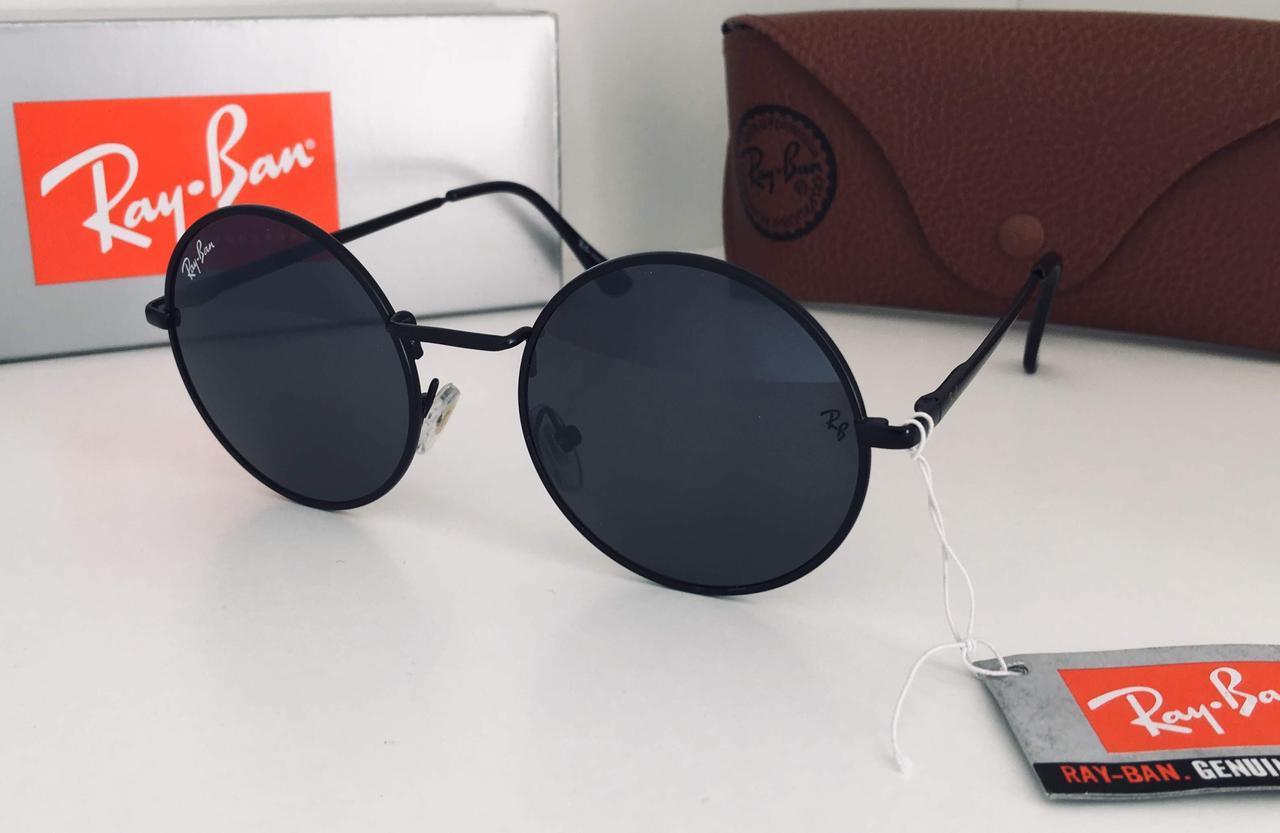 Круглые очки  линза черная  Ray Ban