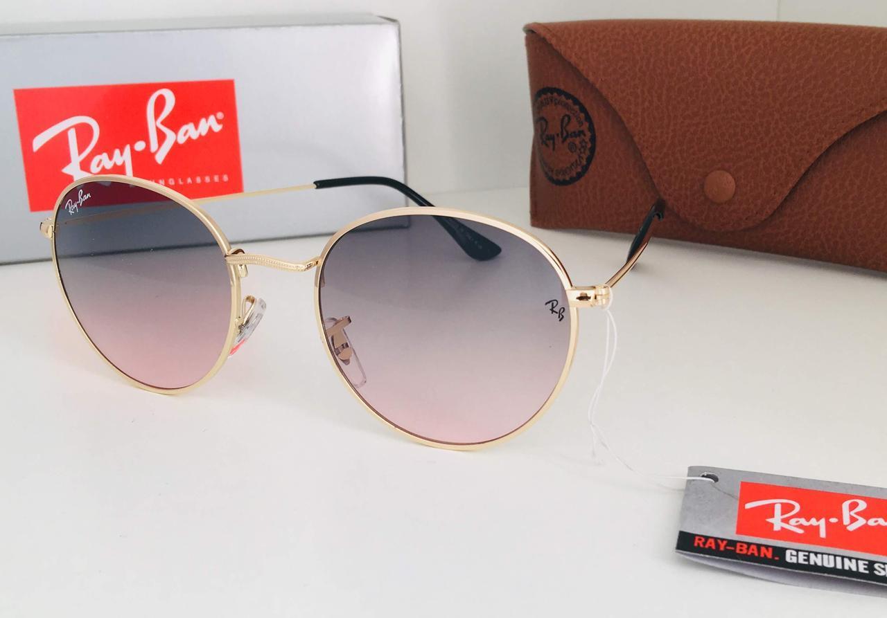 Очки солнцезащитные  цветные овалы  Ray Ban линза градиент (RB3448)