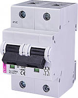 Авт. выключатель ETIMAT 10  2р D 100А (15 kA), ETI, 2153732