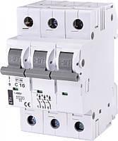 Автоматический выключатель ST-68 3p C 16А (4,5 kA), ETI, 2185316