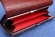 Кошелек женский кожаный темно бордовый, натуральная кожа, фото 2