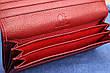 Кошелек женский кожаный темно красный, натуральная кожа, фото 5