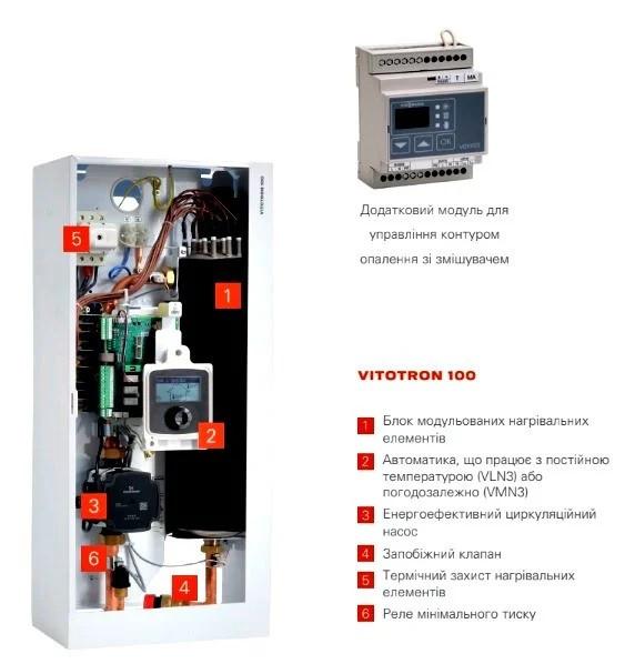Электрический котел Viessmann Vitotron 100 VMN3-08