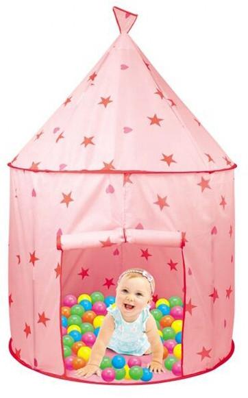 Детская палатка с шариками 995-5992А розовая