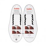 Силиконовые шнурки для кожаной обуви Coolnice Classic 5+5 Black (n-321), фото 2