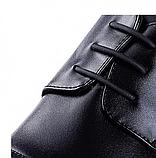 Силиконовые шнурки для кожаной обуви Coolnice Classic 5+5 Black (n-321), фото 3