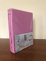 Махровая простынь с резинкой 220х240 см и две наволочки 50х70 см цвет розовый Evibu