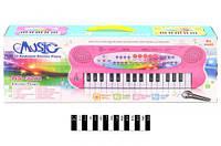 Піаніно з мікрофоном і зарядкою (коробка) hs3211ab р.43,5*16,5*5,5 см
