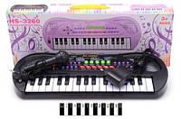 Музыкальный инструмент пианино hs3260a с микрофоном и зарядным устройством