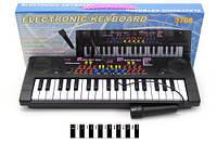 Детское пианино с микрофоном 3768 на 37 клавиш