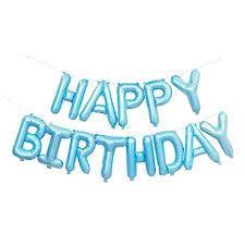"""Надпись """"Happy Birthday"""" голубой 16"""" (40см)"""