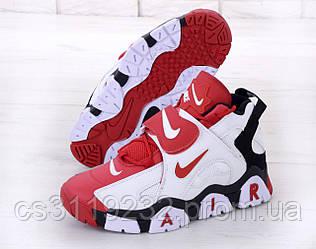 Мужские кроссовки Nike Air Max Barrage (красно-белые)
