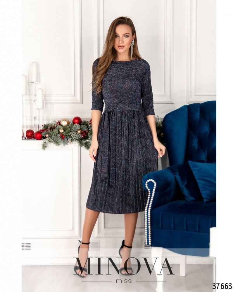 Элегантное вечернее платье с люрексом Размеры 42,44,46,48