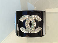 Браслет Chanel широкий с камнями Swarovski