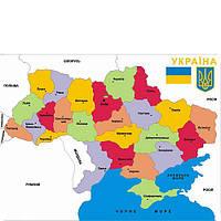 Развивающее пособие М.Монтессори Карта Украины