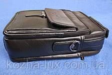 Мужская большая сумка из натуральной кожи, фото 2