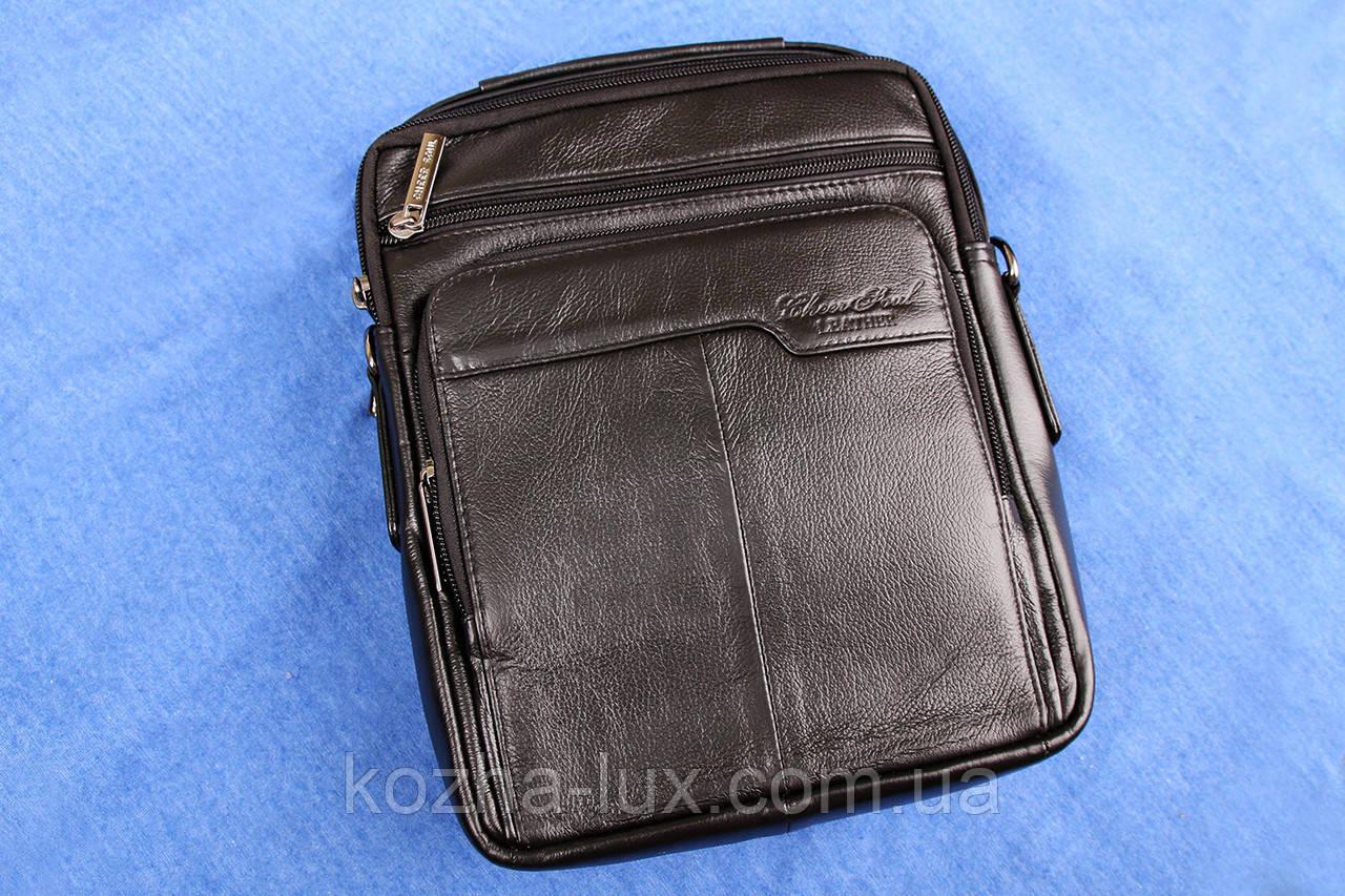 Мужская большая сумка из натуральной кожи