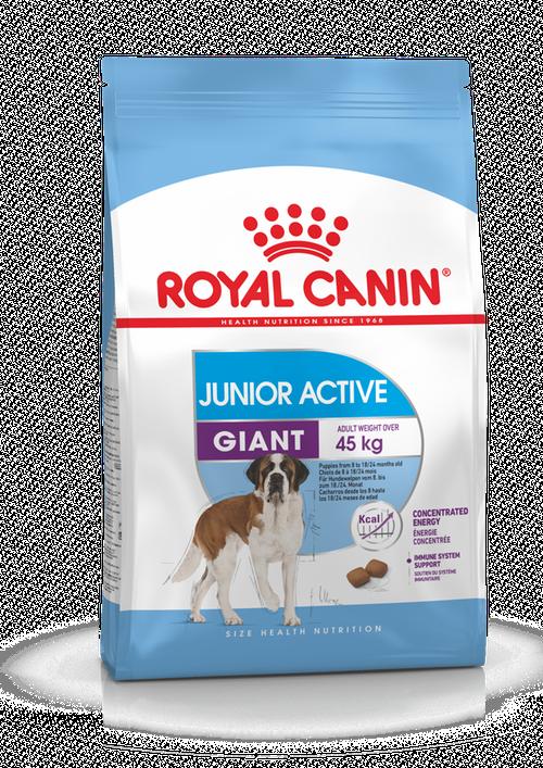 Для щенков гигантских пород с высокой активностью Royal Canin Giant Junior Active, 15 кг
