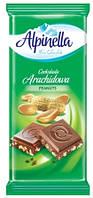 Alpinella шоколад з арахісом , 90г,25шт/ящ