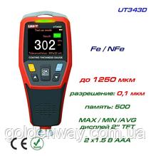 Толщиномер профессиональный UNI-T UT343D, Fe/NFe, до 1250 мкм с калибрующими пленками