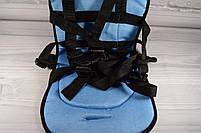 Детское автомобильное кресло, бескаркасное NY-26 Голубой, фото 4