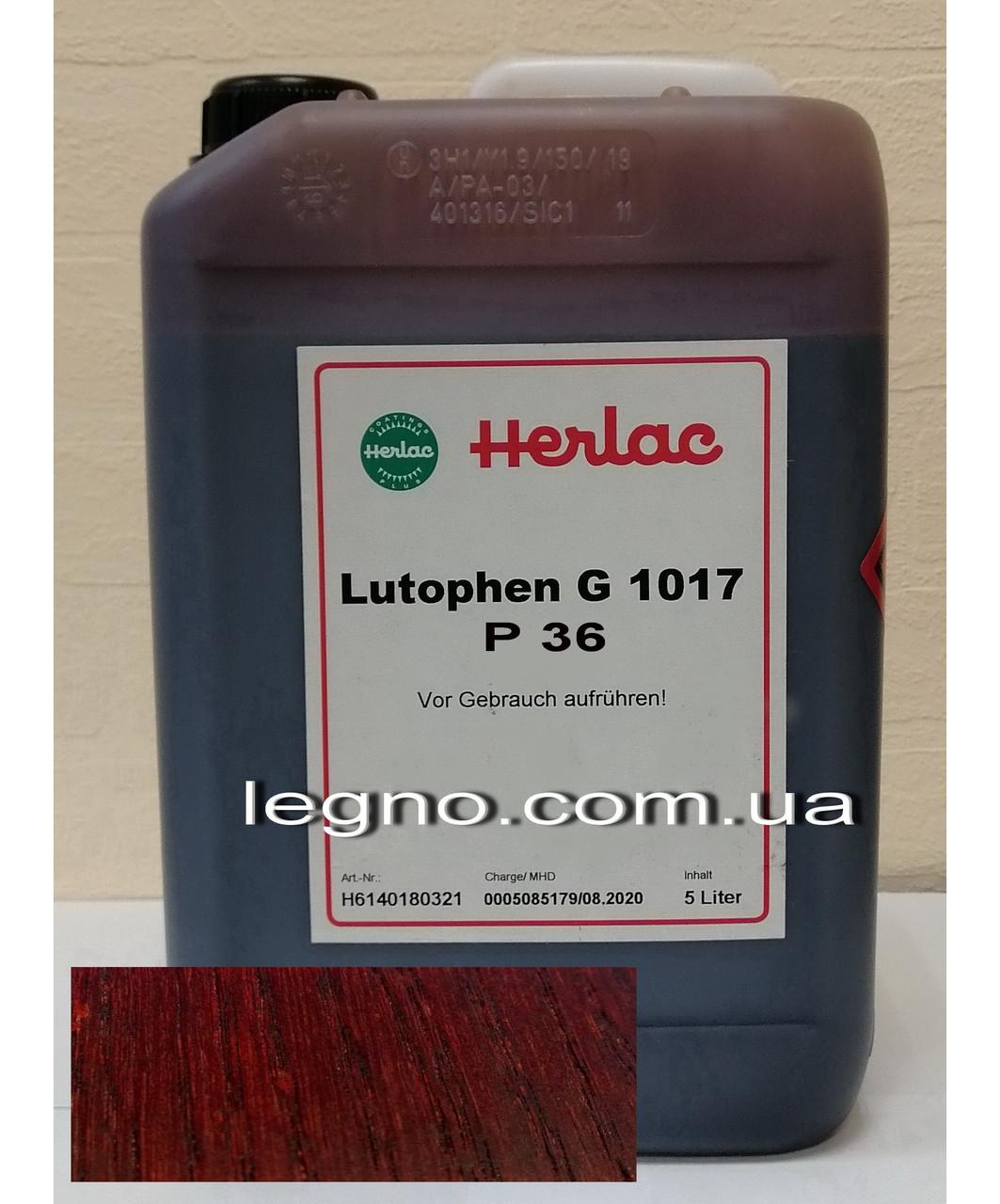 Нитрокраситель (нитробейц, морилка, краситель для дерева) Лютофен Р36 Махагон 5 л Herlac, Германия