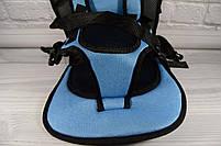 Детское автомобильное кресло, бескаркасное NY-26 Голубой, фото 5