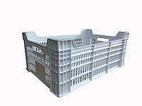 Ящик для м'яса птиці. HDPE тип К2 600х400х260/220 мм первинний.