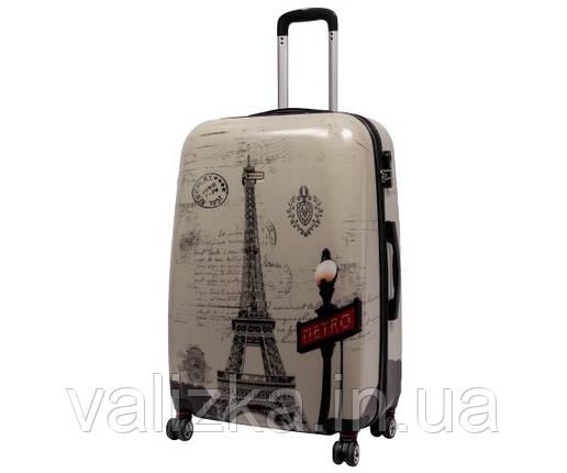 Чемодан пластиковый большой из поликарбоната чемодан Airtex WorldLine с принтом Париж, фото 2