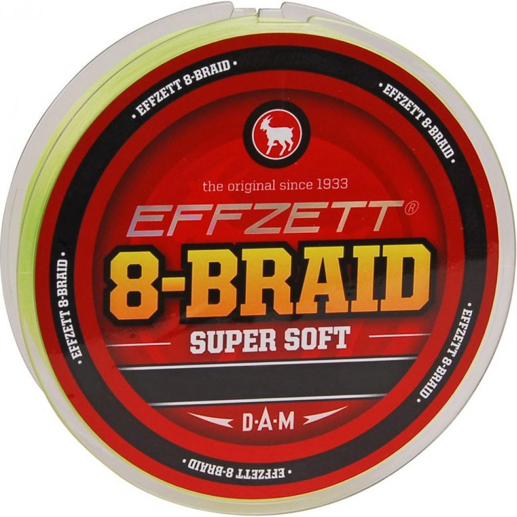 Шнур DAM Effzett 8-BRAID 125м 0,20мм 18,1кг (yellow) (3798020)