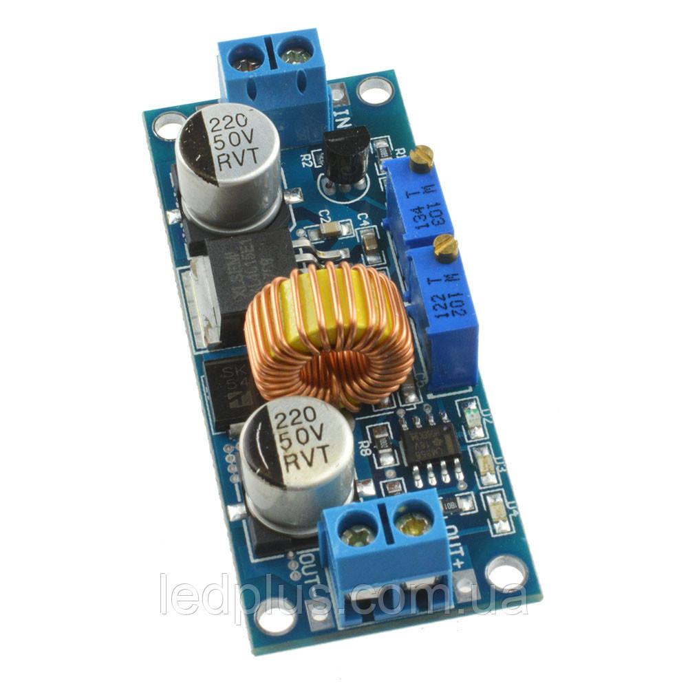 Понижающий импульсный стабилизатор напряжения и тока XL4015 регулируемый
