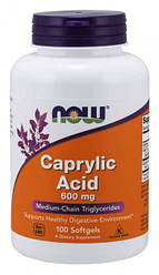 NOW_Caprylic Acid 600 мг - 100 софт кап