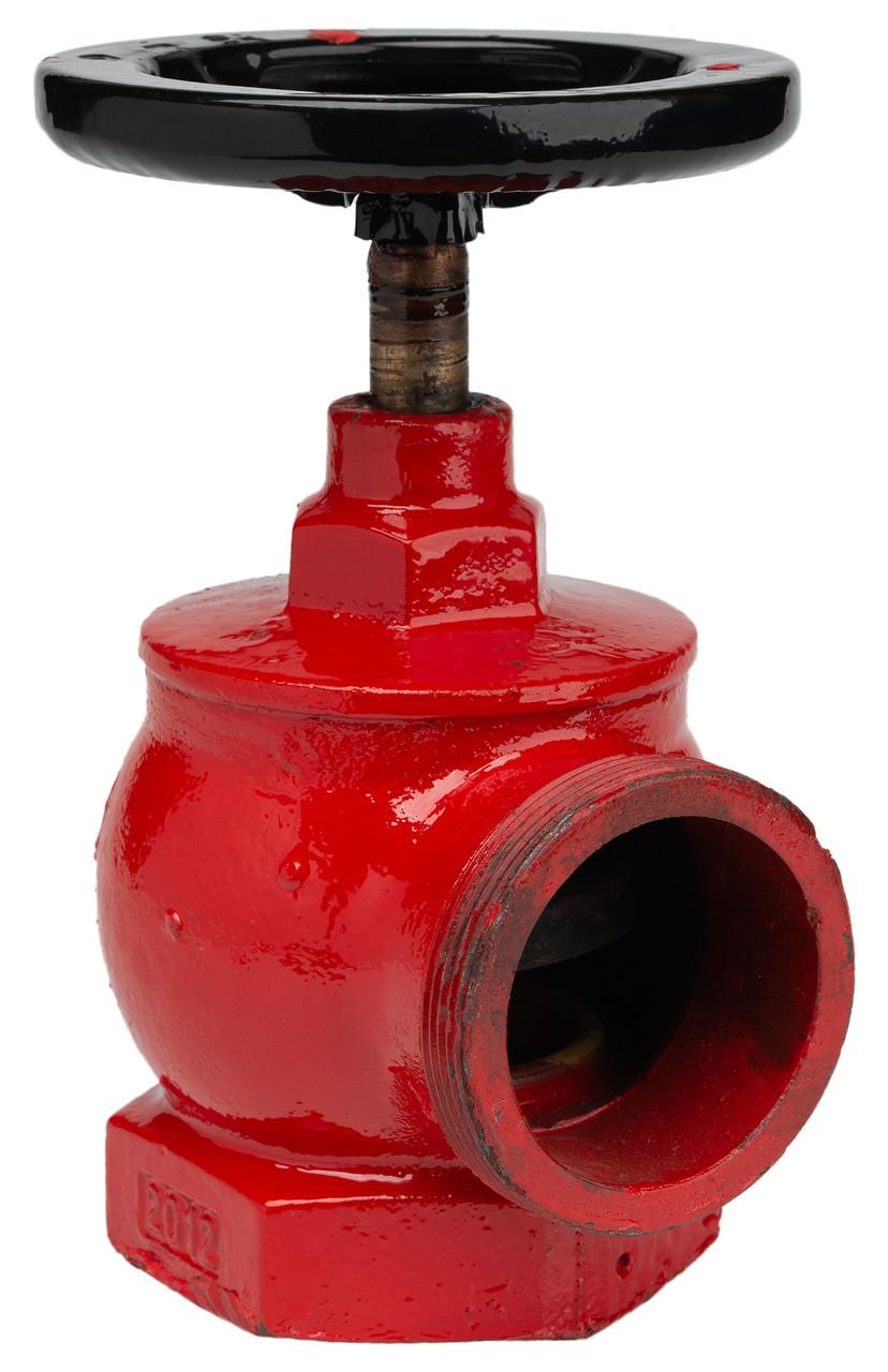 Кран пожарный угловой чугунный ДУ-65