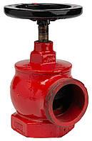 Кран пожарный угловой чугунный ДУ-65, фото 1
