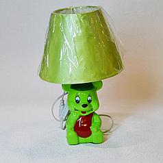 Лампа настольная детская, мишка, 1 лампа, высота лампы - 32 см, диаметр абажура - 20 см.