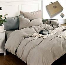 Комплект постельного белья  Полуторный , лен  Бриллиантовый туман.