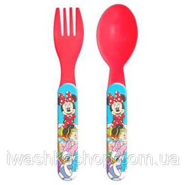 Набор детских столовых приборов: ложка и вилка c Минни Маус, Minnie Mouse для девочек, Disney
