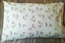 Наволочка единорожки на светло-мятном фоне с запахом, на детскую подушку  60 *40 см, 100% хлопок