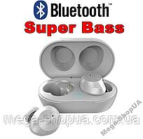 Вакуумные сенсорные наушники и гарнитура беспроводные Bluetooth блютуз TW9W для телефона. Бездротові навушники