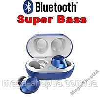 Вакуумные сенсорные наушники и гарнитура беспроводные Bluetooth блютуз TW9N для телефона. Бездротові навушники