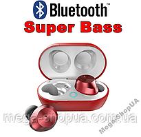 Вакуумные сенсорные наушники и гарнитура беспроводные Bluetooth блютуз TW9R для телефона. Бездротові навушники
