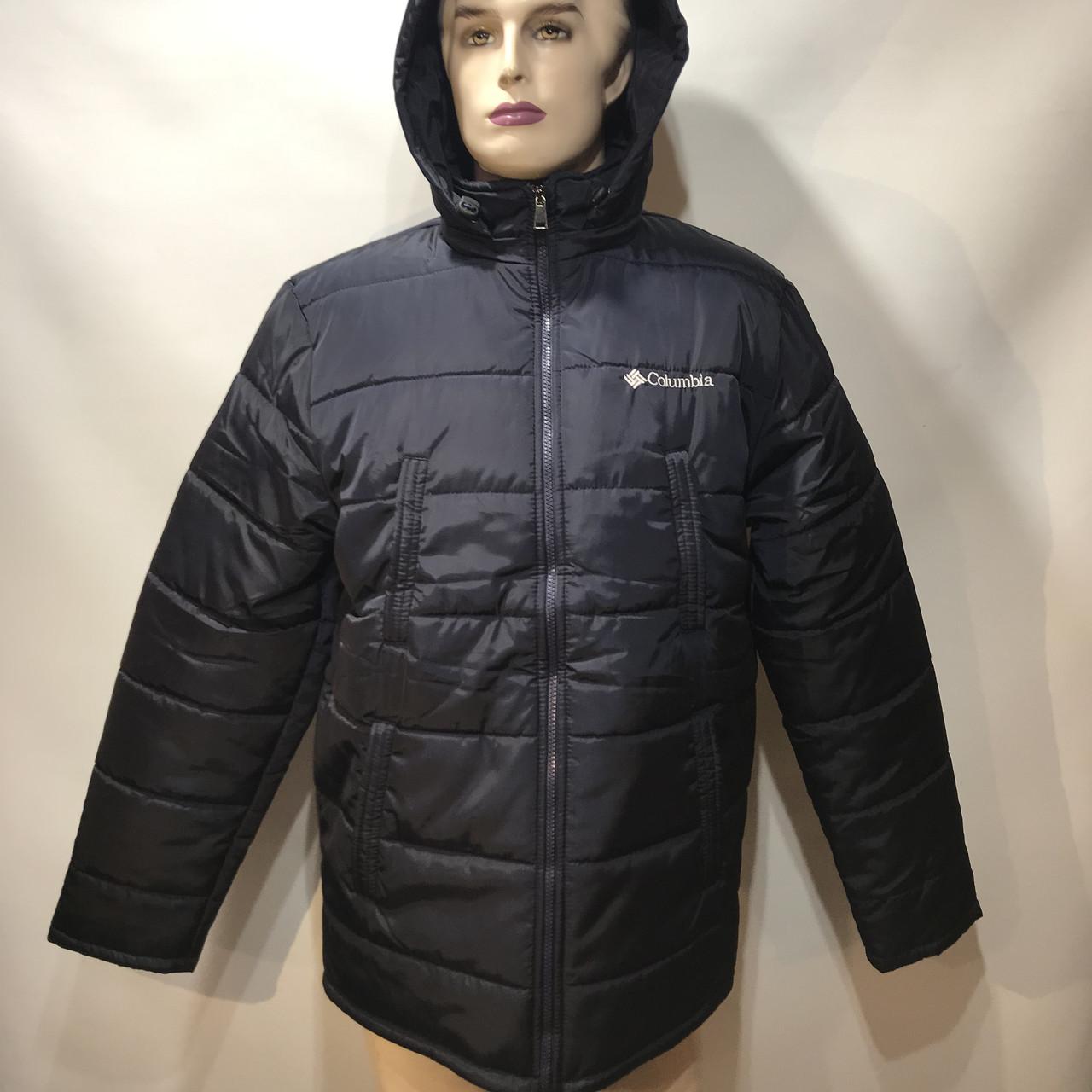 Куртка мужская зимняя в стиле Columbia синтепон + кашемир