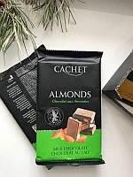 Cachet 300г, №42, Almonds, молочний шоколад з мигдалем, (12шт)